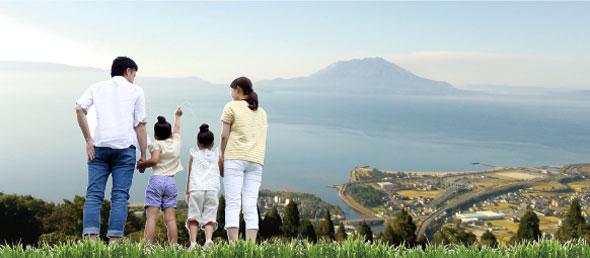 霧島市福山は、雄大な桜島と錦江湾を望む自然溢れるのどかな町です。